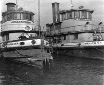 S.S. Naramata and S.S. Kelowna, c. 1955; Penticton Museum and Archives, PMA 5303