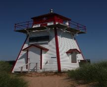 Corner view of Covehead Harbour Lighthouse; Parks Canada Agency | Agence Parcs Canada