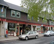 Front elevation of centre store fronts, Hydrostone Market, Halifax, Nova Scotia, 2004.; HRM Planning and Development Services, Heritage Property Program, 2005.