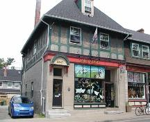Detail of corner building, Hydrostone Market, Halifax, Nova Scotia, 2005.; Heritage Division, NS Dept. of Tourism, Culture and Heritage, 2005.