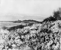Historic photograph of Trial Islands Lighthouse ca. 1900-1925; Library and Archives Canada | Bibliothèque et Archives Canada, Albertype Company, PA-032801