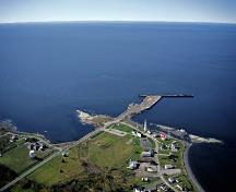 Aerial view of Pointe-au-Père lightstation; Agence Parcs Canada | Parks Canada Agency