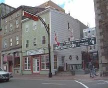 Front and side elevations, P. Martin Liquors, Halifax, Nova Scotia, 1997.; HRM Planning and Development Services, Heritage Property Program, 1997.