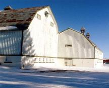 ¾ view of the Stable (Building No. 15) on the Indian Head Research Station; Agriculture Canada
