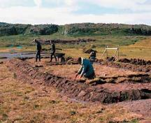View of excavations.; Parks Canada Agency / Agence Parcs Canada