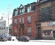 Front and side elevations, Halliburton House (centre), Halifax, Nova Scotia, 1997.; HRM Planning and Development Services, Heritage Property Program, 1997.