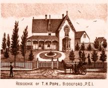 T.H. Pope Residence; Meacham's Illustrated Historical Atlas of PEI, 1880