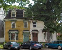 Showing entire double tenement house - 46 Prince at right; City of Charlottetown, Natalie Munn, 2005