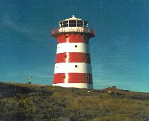 Cape Pine Lighthouse Recognized Federal Heritage Building; Parcs Canada - Parks Canada (1990).