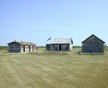 View north at reconstructed buildings, 2004.; Government of Saskatchewan, Marvin Thomas, 2004.