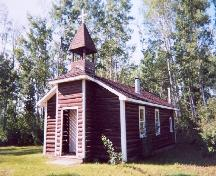 Front view of St. David's Anglican Church, 2004.; Government of Saskatchewan, James Winkel, 2004.