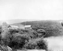 General view of Fort McLeod National Historic Site of Canada, 1879.; George M. Dawson / Library and Archives Canada | Bibliothèque et Archives Canada / PA-051135
