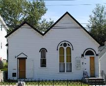 Front elevation, Victoria Road United Baptist Church, Dartmouth, Nova Scotia, 2005.; HRM Planning and Development Services, Heritage Property Program, 2005.