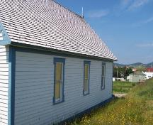 Exterior view of the Methodist Schoolhouse / Society of United Fishermen Hall, Trinity, July 2005; HFNL/George Chalker 2005