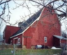 Side Perspective, GowanBrae Barn, Grand Pre, 1988; Heritage Division, Nova Scotia Department of Tourism, Culture and Heritage, 1988