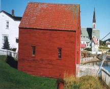 View of side facade of Grant's Stage (Trinity, NL) prior to 2005 restoration.; 2005 Heritage Foundation of Newfoundland and Labrador
