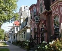 South Park Victorian Streetscape looking towards Morris Street, from Second Empire to Queen Anne styles, Halifax, Nova Scotia, 2005.; Heritage Division, NS Dept. of Tourism, Culture, and Heritage, 2005.