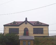 View of the front facade of St. Paul's Anglican School, Trinity, Trinity Bay ; HFNL 2005