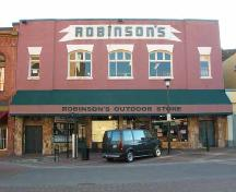 Exterior view of Robinson's Sporting Goods; City of Victoria, Berdine J. Jonker, 2005.