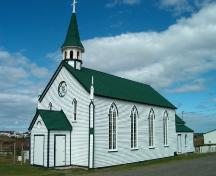 St. Joseph's Roman Catholic Church, Bonavista, restored in the summer of 2004.; HFNL 2004