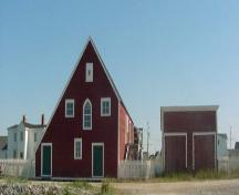 Exterior photo of the Fish Store, the heart of the salt fish operation for the Mockbeggar Plantation, Bonavista, NL.; HFNL 2005