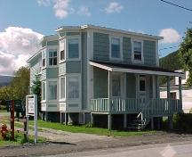Exterior view of front and left side of Blanchard House, Woody Point, NL.; Town of Woody Point 2005.