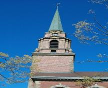 Detail of tower and copper spire, First United Church, Truro, Nova Scotia, 2004; Heritage Division, Nova Scotia Department of Tourism, Culture and Heritage, 2004