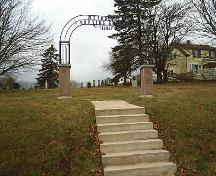 Yorkshire archway and stairs at Methodist Burying Ground, dedicated in 2001; Town of Sackville