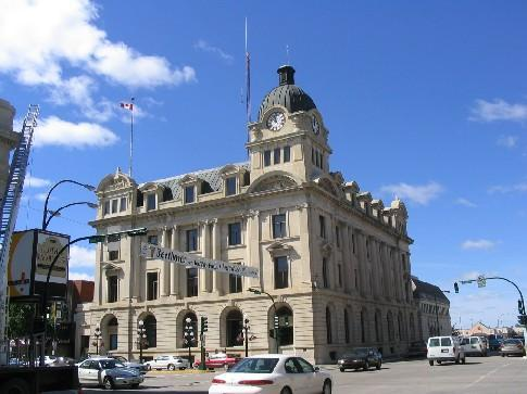 Moose Jaw City Hall, Gov. of SK, 2004 / Hôtel de ville de Moose Jaw, gouv. du SK, 2004