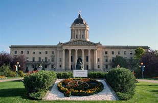 Manitoba Legislature, Manitoba Historic Resources Branch / Palais législatif du Manitoba, gouvernement du Manitoba