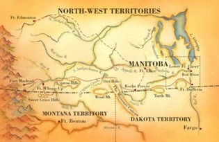 Map Of Canada In 1873.Historicplaces Ca Defending The Law The North West Mounted Police